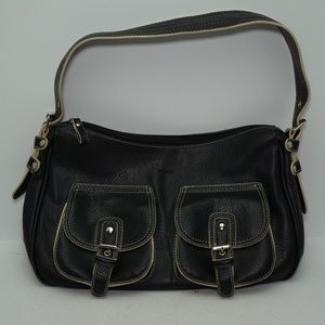 Picard Black Leather Handbag Made in Germany